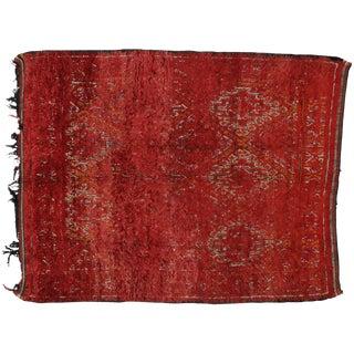 Vintage Berber Red Moroccan Rug, 7'4 x 8'11