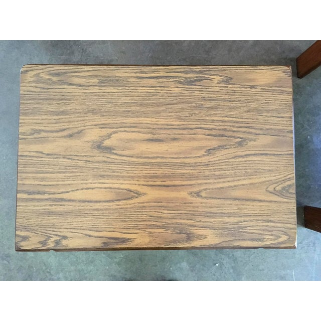 Mid-Century Parsons Style Side Tables - A Pair - Image 8 of 8