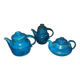 Herman Kahler Blue & Brown Tea Set