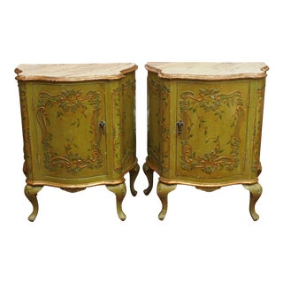 Pair of Chinoiserie Decorated Bedside Cabinets