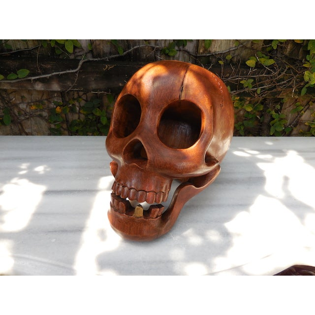 Contemporary Wood Skull - Image 2 of 7