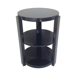 Art Deco Style 3-Tier Round End Table