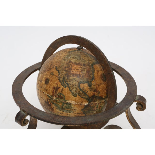 Italian Mini Old World Globe with Brass stand - Image 5 of 10