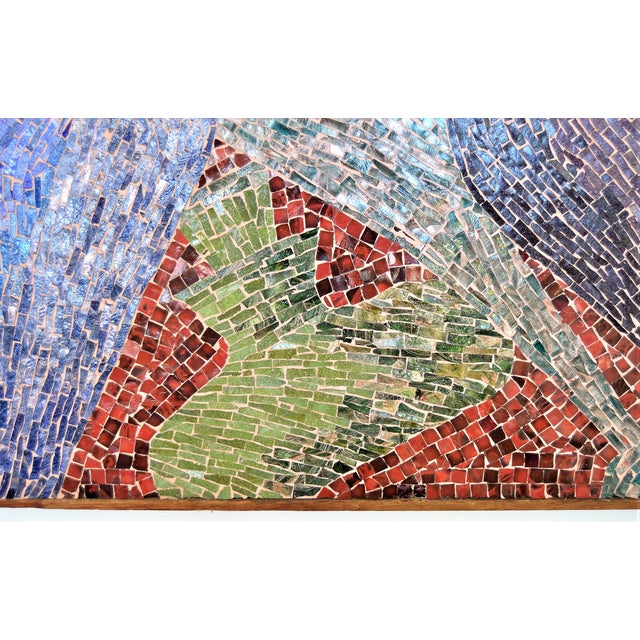Cubist Glass Mosaic Wall Sculpture - Image 4 of 11