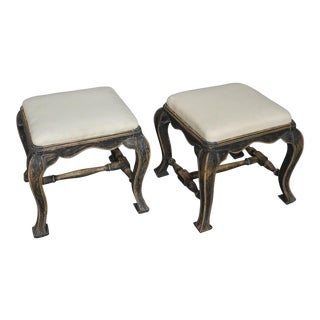Pair of Baroque Style Stools (#63-06)
