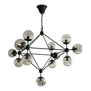 Modern Metal & Glass Chandelier