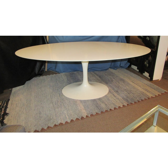 Authentic VIntage Knoll Saarinen Oval Tulip Base Dining Table - Image 7 of 7
