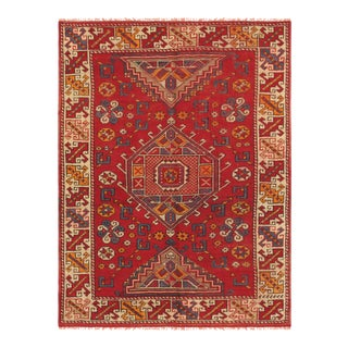 Pasargad Vintage Oushak Wool Area Rug - 4′3″ × 5′8″