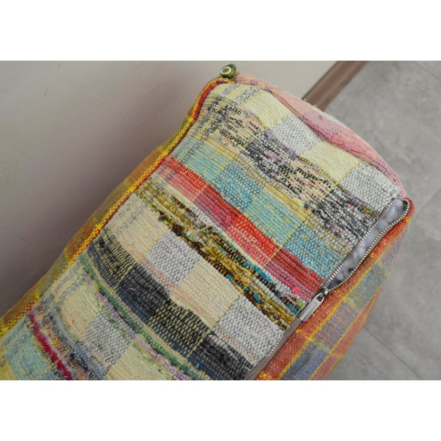 Image of Hand Woven Kilim Floor Cushion Turkish Sitting Pillow- 22″ X 22″