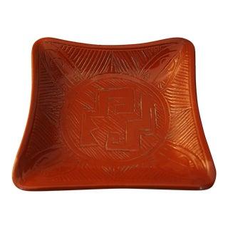Mid-Century Italian Bitossi Style Red Bowl / Catchall