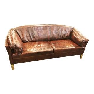 Mogens Hansen Model 35 Indian-Red Leather Sofa