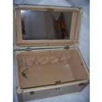 Image of Mid-Century Samsonite Beige Vinyl Cosmetics Case