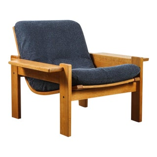 Pair of Solid Oak Armchairs by Yngve Ekstrom for Swedese