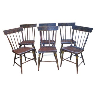Set of Six Painted Chairs
