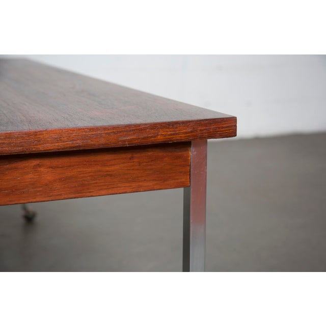 Large Rosewood Rolling Coffee Table - Image 5 of 8