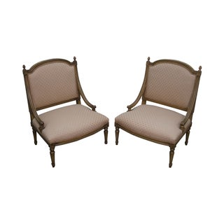 Quality French Louis XV Painted Slipper Chairs - 2