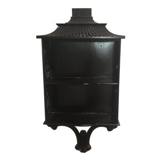 Black Pagoda Chinoiserie Style Shelf