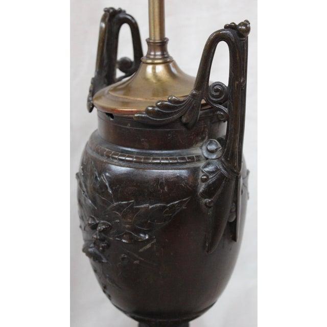 Image of Vintage Bronze Classical Urn Lamp