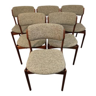 Erik Buch Walnut Dining Chairs for o.d. Mobler - Set of 6