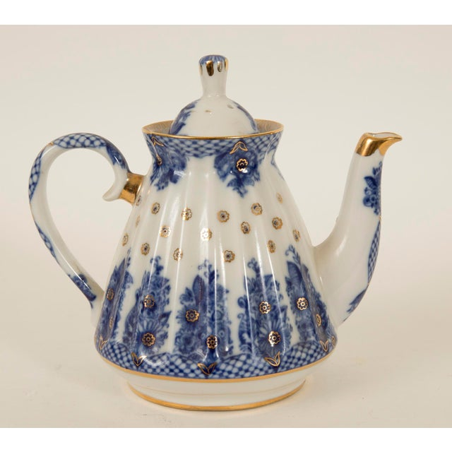 Lomonosov Cobalt Blue & Gold Porcelain Teapot - Image 3 of 11
