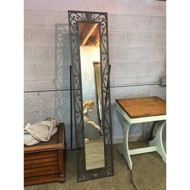 Metal Leaves Design Free Standing Mirror - Image 3 of 6