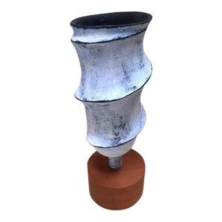 """""""Blue Cyclone"""" Modern Sculpture"""