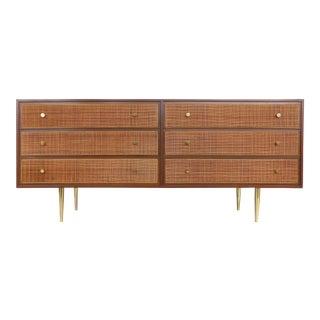 Harvey Probber Woven Cane Front Dresser