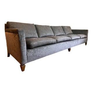 Mid-Century Gray Velvet Sofa