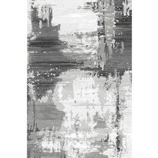"Turkish Gray Abstract Rug - 6'8"" x 9'8"""