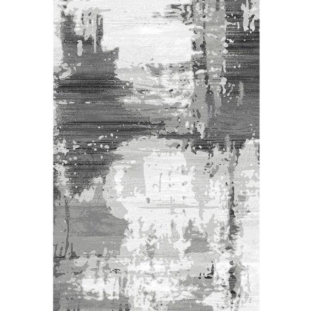 """Turkish Gray Abstract Rug - 6'8"""" x 9'8"""" - Image 1 of 4"""