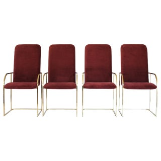 Brass Dining Chairs by DIA S/4