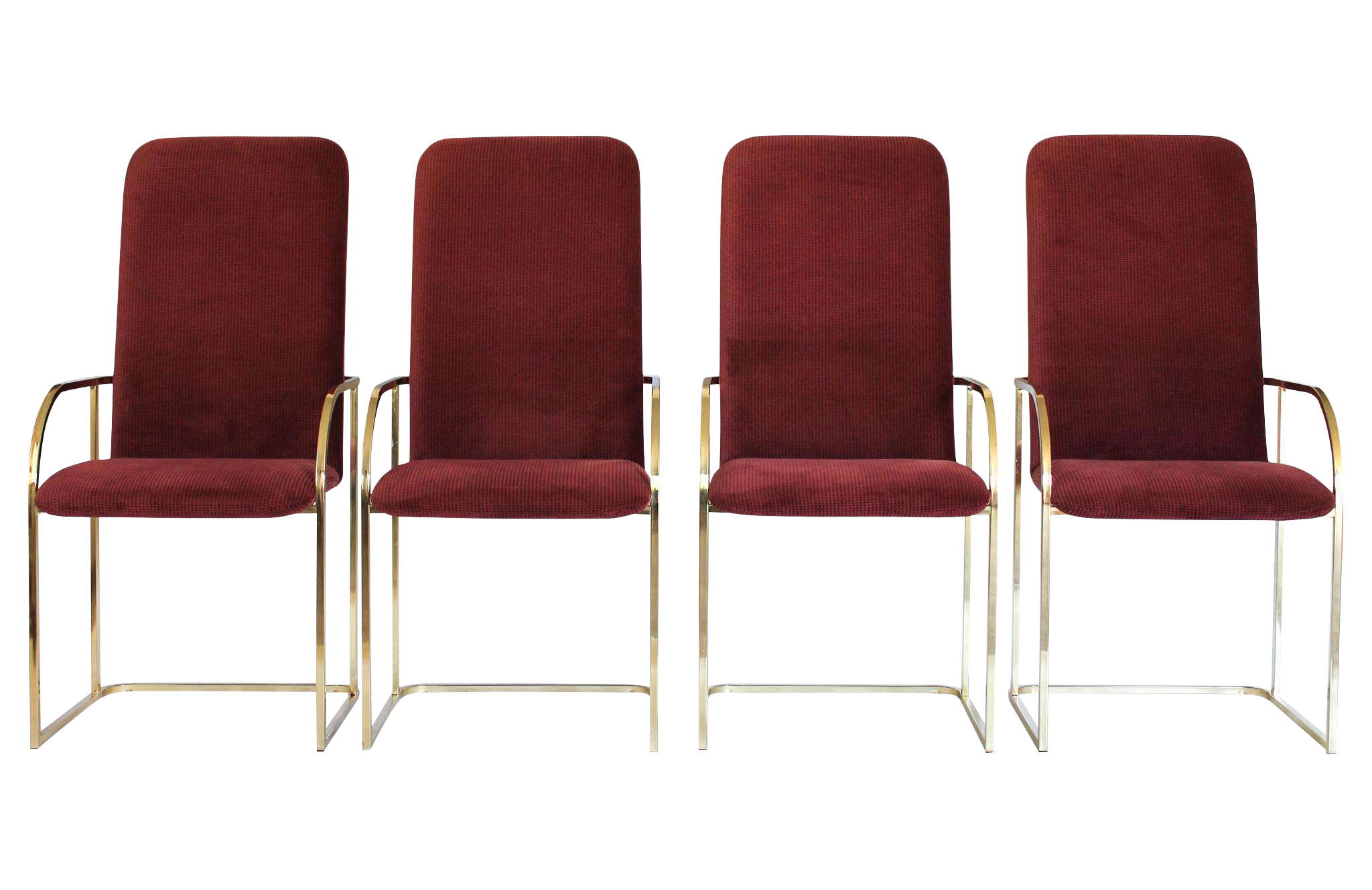 brass dining chairs by dia s4