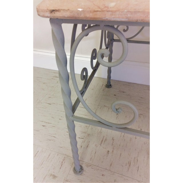 Vintage Iron & Marble Coffee Table - Image 7 of 9