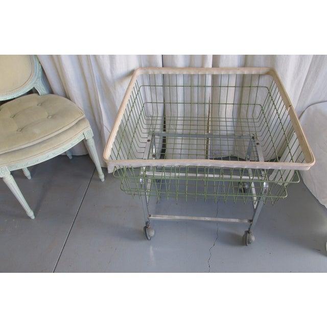 old school laundry basket chairish. Black Bedroom Furniture Sets. Home Design Ideas