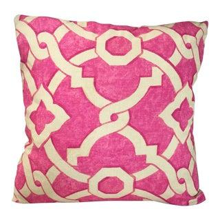Kim Salmela Pink Geometric Pillow