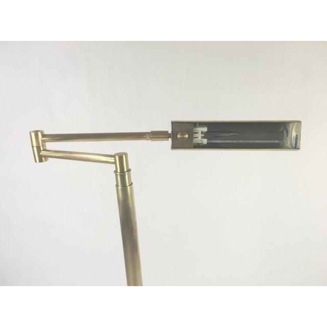 Image of Koch & Lowy Brass Swing Arm Adjustable Floor Lamp