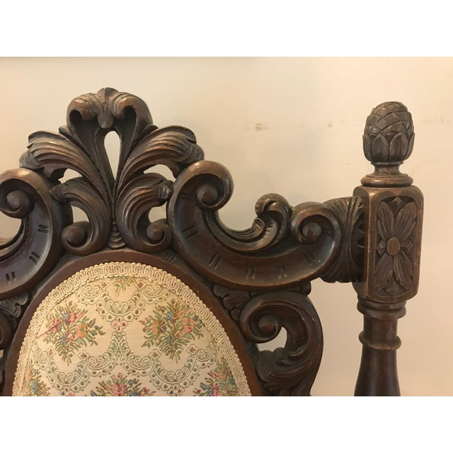 Antique Scottish Carved Settee - Image 7 of 9