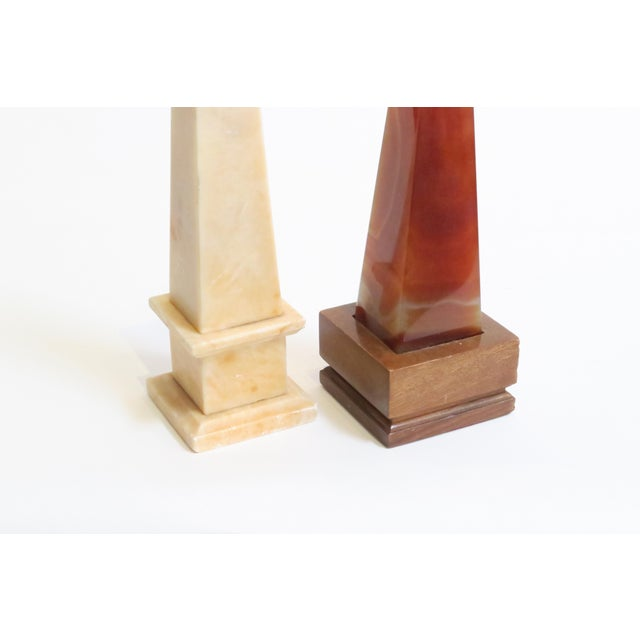 Marbled Stone Obelisks- A Pair - Image 5 of 5