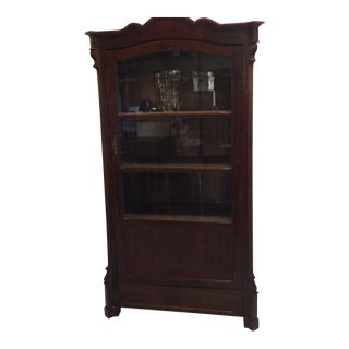 Antique Victorian Glass Front Cabinet