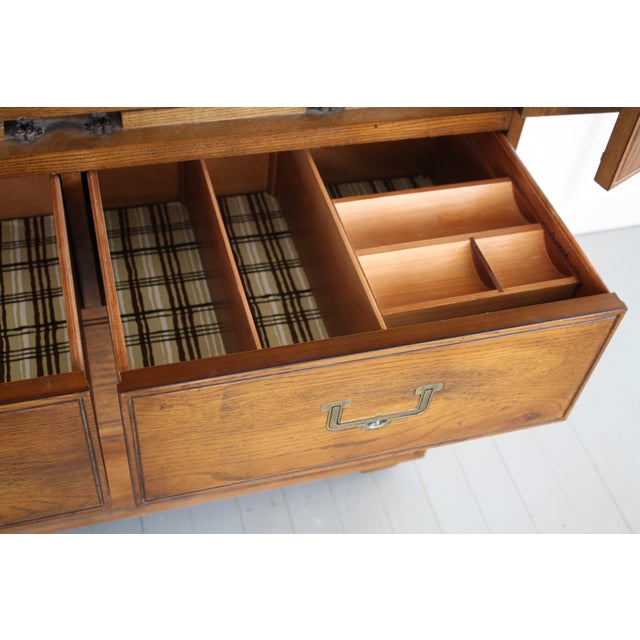 Henredon Campaign Style Armoire - Image 6 of 11