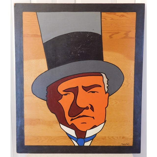 Charles Hall Large WC Fields Pop Art Painting - Image 2 of 6