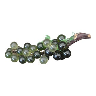 Mid-Century Green Lucite Grapes