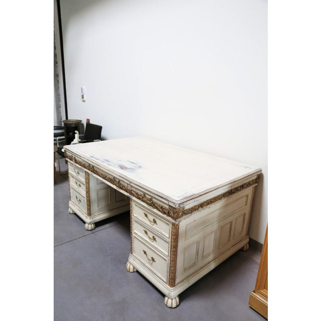 Antique White French Desk - Image 6 of 7