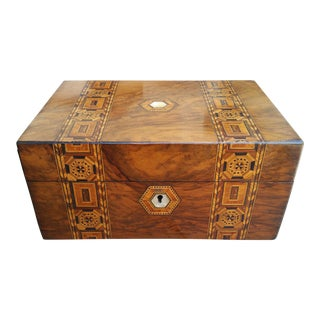 Antique Inlaid Marquetry Jewelry Box