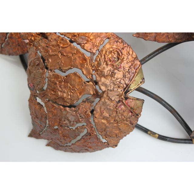 Torch Cut Metal Wall Sculpture - School of Fish - Image 6 of 6