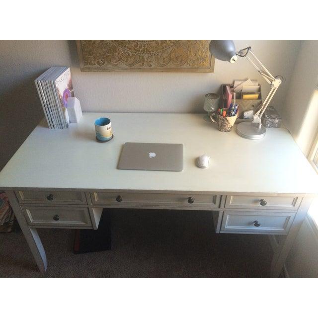 Image of Shabby Chic White Office Desk