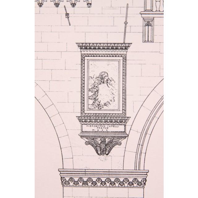 Vintage Palazzo Vecchio, Italy Engraving Print - Image 2 of 4