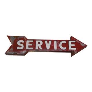Vintage Hollywood-Era 'Service' Sign