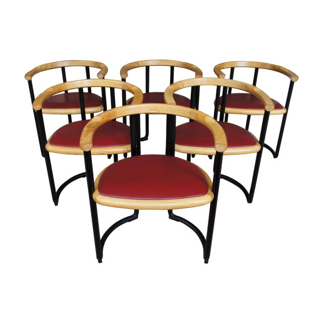 Ycami Collection Barrel Dining Chairs - Set of 6 - Image 1 of 11
