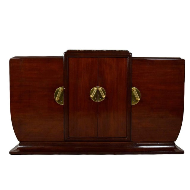 1930's French Art Deco Mahogany Buffet - Image 1 of 10